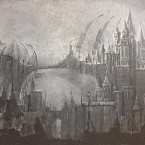 とある古城の風景