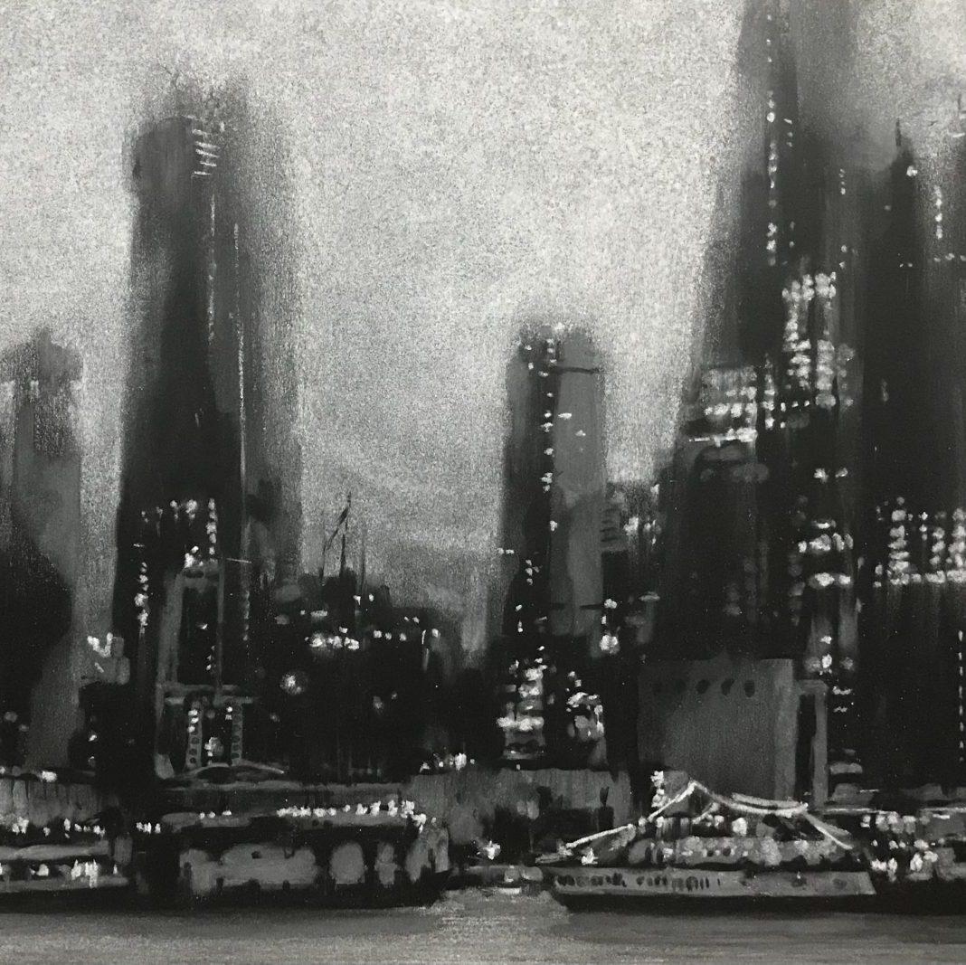 「NYC 2018」A3 / 黒板,白チョーク